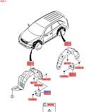 Брызговик передний левый киа Соренто 2, Kia Sorento 2009-2014, 868502p000, фото 2