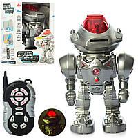 Робот 27108 радіокер., ходить, їздить, стріляє диск, муз. (англ.), світло, бат., кор., 21,5-32-16 см