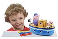Игровой набор Peppa - МОРСКОЕ ПРИКЛЮЧЕНИЕ (кораблик, 3 фигурки), фото 1