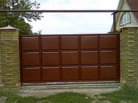 Откатные, сдвижные ворота в Днепропетровске, изготовление ворот