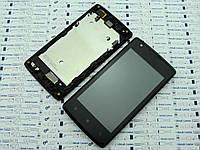 Дисплей Lenovo A1000 модуль черный Сервисный оригинал с разборки