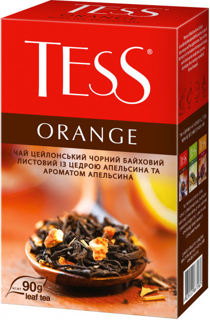 Чай черный с апельсином и яблоком TESS Orange 90 гр.