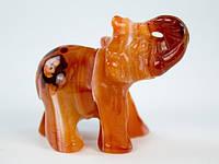 Мини фигурка Слона из сердолика
