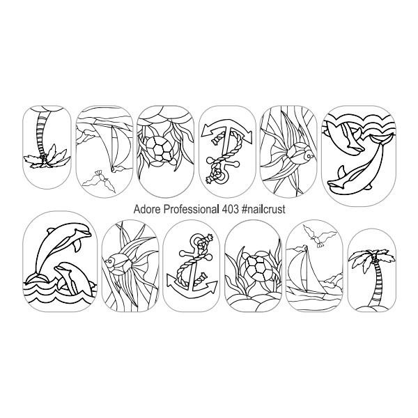 Наклейки  для дизайна ногтей Adore Professional  403