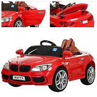 Детский электромобиль BMW с кожаным сиденьем, M 2773 EBLR-3 красный