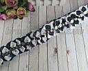Школьные бантики 5*4 см на резинках для волос синие + белые 24 шт/уп., фото 6