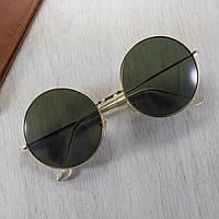 Сонцезахисні окуляри круглі зелені