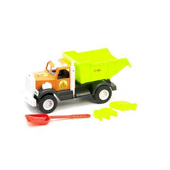 Инерционный грузовик, с лопаткой оранжевый. 12-010