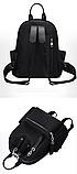 Рюкзак жіночий нейлон з ланцюгами сірий, фото 5