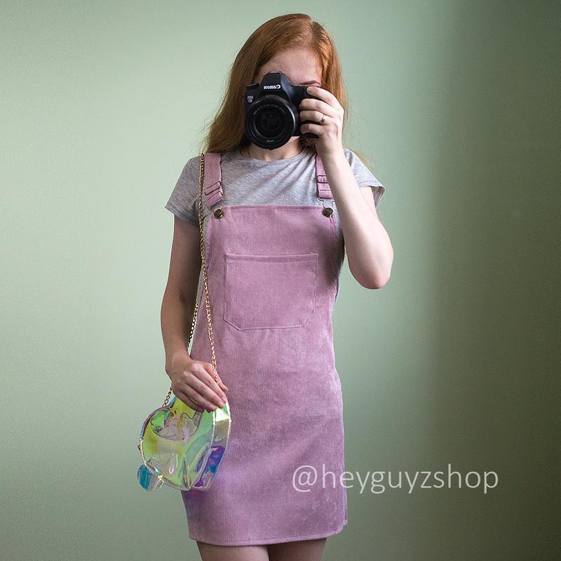 004270de8f0 Стильный женский сарафан с карманами вельветовый велюровый розовый цвет  пудры