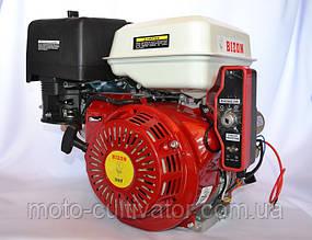 Двигатель бензиновый BIZON GX-390 188FE 13 л.с. с электростартером вал 25 мм шпонка