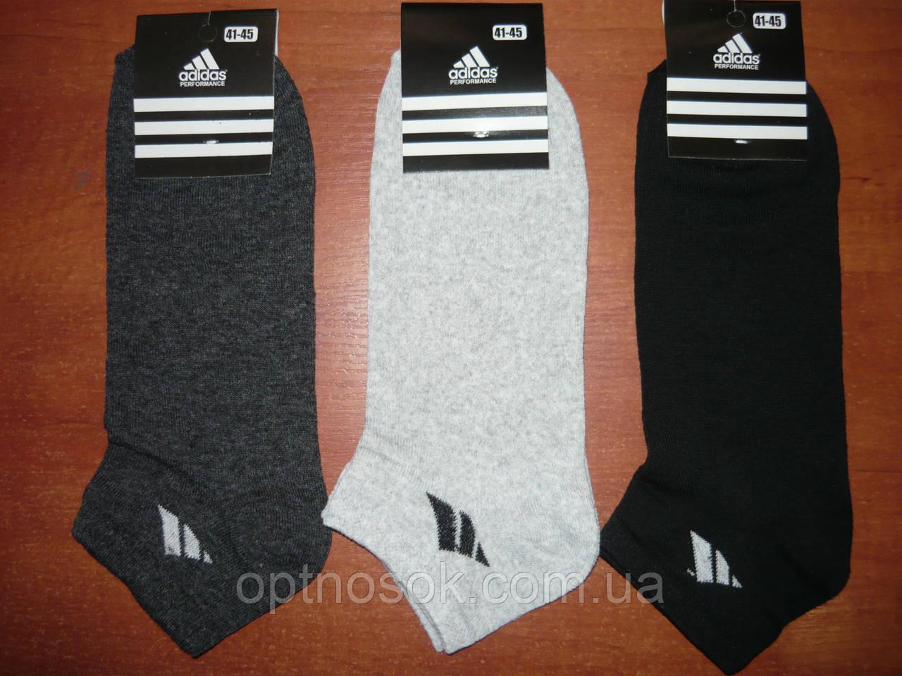 """Мужской носок """"в стиле"""" Adidas. Короткий. р. 41-45. Ассорти."""