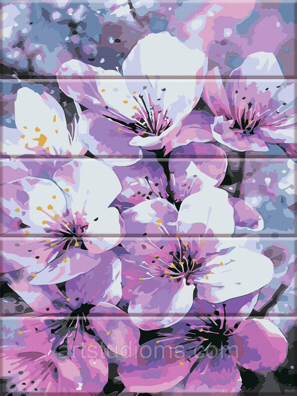 Картины по номерам на дереве Первоцвет 30х40см, С Коробкой, красками и кистями