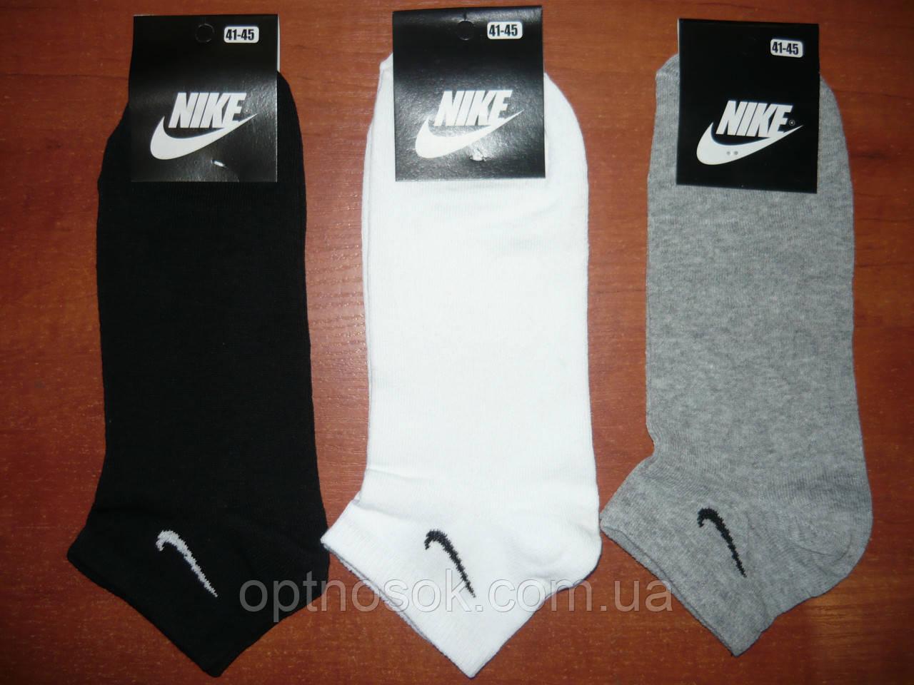 "Мужской носок ""в стиле"" Nike. Короткий. р. 41-45. Ассорти."