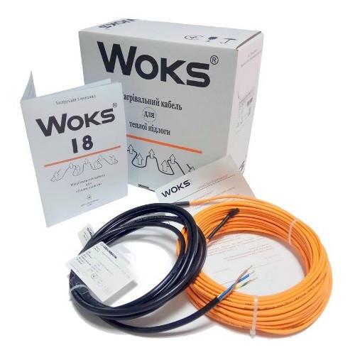 Двухжильный нагревательный кабель Woks-18 220W (12м)