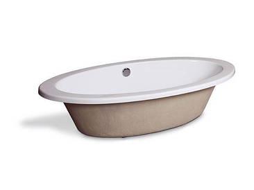 Встраиваемая ванна 186*89 см овальная Aqua-World АВ821 с сифоном белая