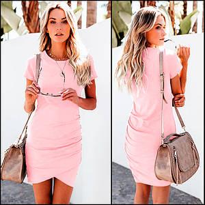Розовое спортивное платье Amber (Код MF-416)
