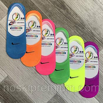 Подследники женские микрофибра Nike, Турция, 36-40 размер, ассорти, 02549