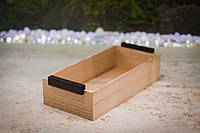 Деревянная коробка для подачи 30х15х7 см