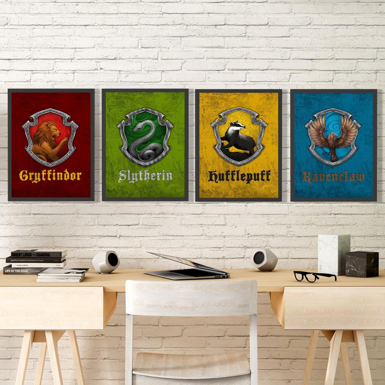 Набор Постеров всех факультетов Хогвартса Set №4
