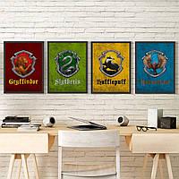 Набор Постеров всех факультетов Хогвартса Set №4, фото 1
