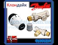 Danfoss Клапан RA-FN + термостатический елемент RAS-C + клапан запорный RLV-S прямой