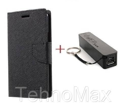 Чехол книжка Goospery для Samsung GALAXY J2 + Внешний аккумулятор (Powerbank) 2600 mAh (в комплекте). Подарок!!!
