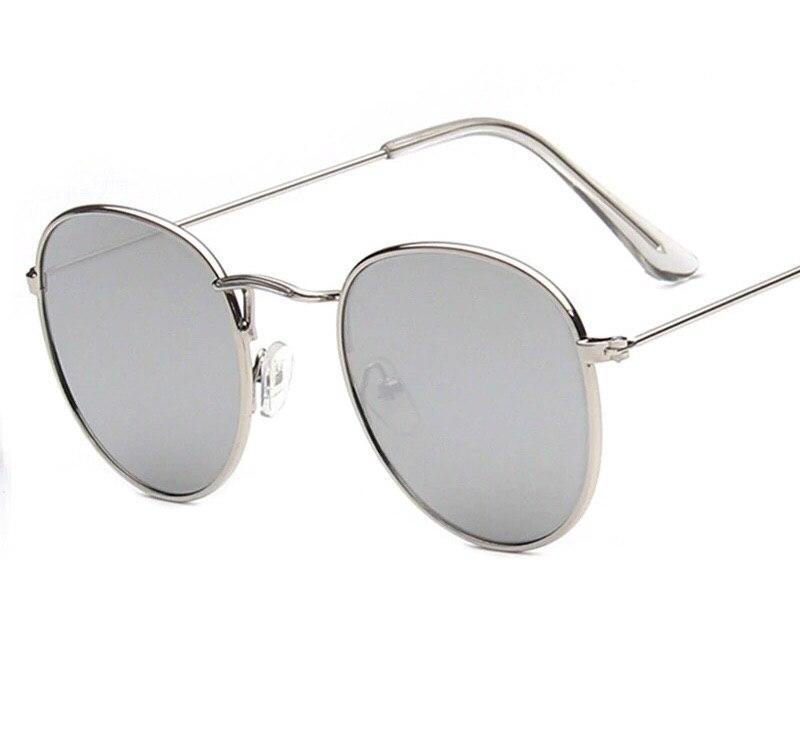 Солнцезащитные очки тишейды серые с серебристой оправой
