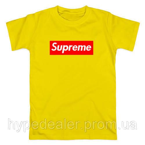 7a1f84464a546 Футболка Supreme желтая, унисекс (мужская, женская, детская ...