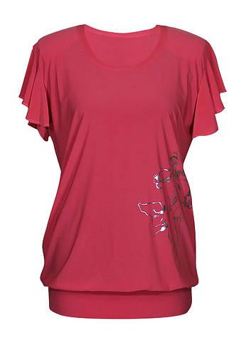 Женская удлиненная футболка Ирисы