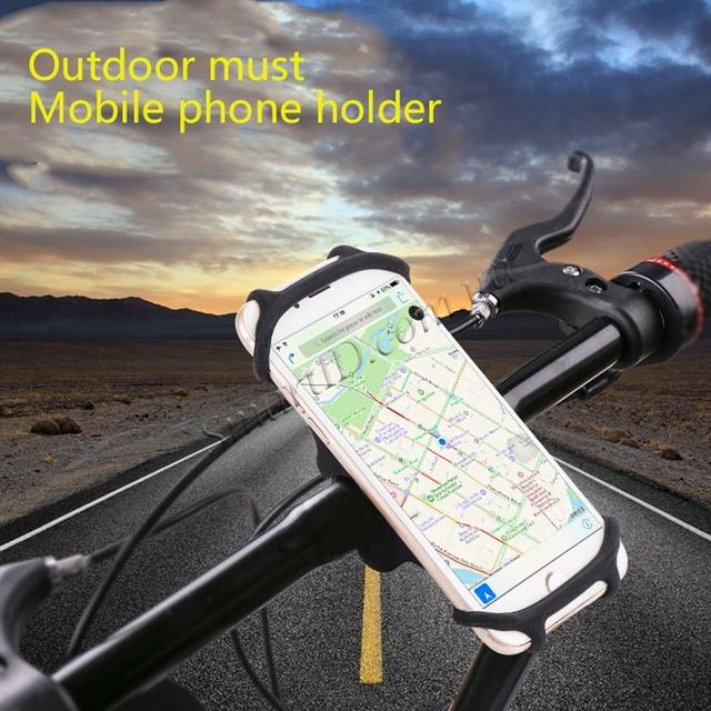 Универсальный вело держатель (холдер) Topk H03 для смартфона Черный Красный