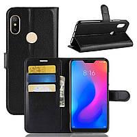 Чехол-книжка Litchie Wallet для Xiaomi Redmi Note 6 Pro Черный