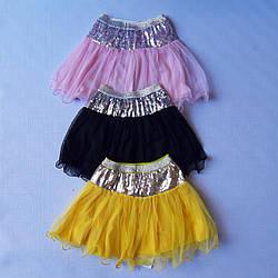 Детские  юбки  с паетками   2-6