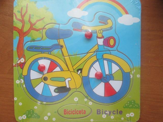 Вкладиш-пазл для найменших. Велосипед.
