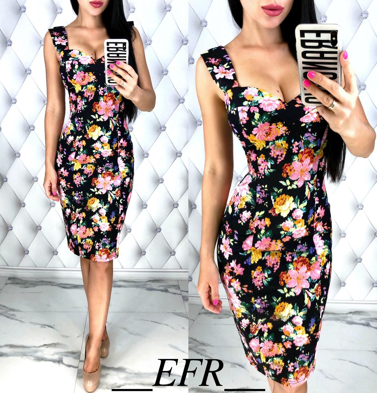 Облегающее платье с цветочный принтом