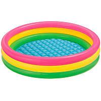 Детский надувной бассейн с надувным дном 147х33 см Intex 57422