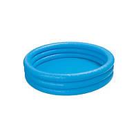 Детский круглый резиновый бассейн 114х25 см Intex 59416