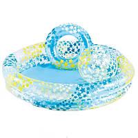 Бассейн с кругом и мячом для детей от 2 лет 122х25 Intex 59460