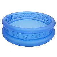Большой надувной детский бассейн со сливным клапаном 188х46 Intex 58431