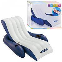 Надувное плавающее кресло шезлонг для пляжа Intex 58868