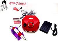 Фрезер для маникюра Nail Drill ZS-601(35 тысяч оборотов,35 ватт)Красный