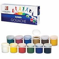 Детские краски Гуашь 12 цветов Луч (блок тара)