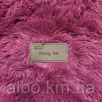 Покривало хутряний плед Травичка ALBO 160х200 см Малинове (P-a09-2), фото 8