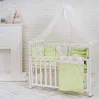 Постельный комплект в детскую кроватку Бэби дизайн Малыши в шапочках (7 предметов)