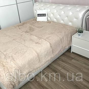 Плед однотонний на ліжко диван, красивий плед на диван ліжко, покривало на диван ліжко, м'який теплий плед на диван ліжко ALBO