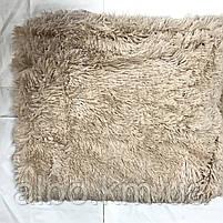 Меховой плед покрывало травка ALBO 160х200 cm Бежевое (P-b14-2), фото 2