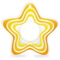 Надувной круг звезда для плаванья 3-6 лет 71(74) см Intex 59243