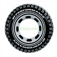 Большой надувной круг для плаванья 91 см шина от 9 лет Intex (59252)