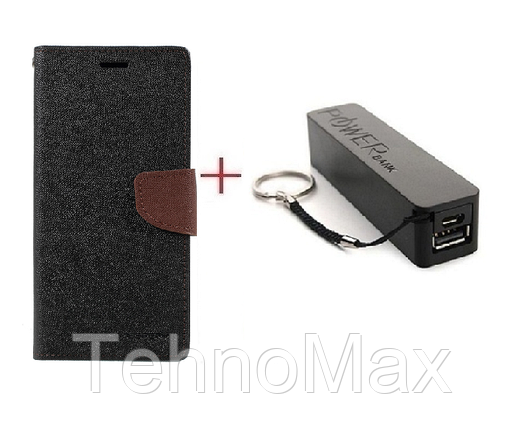 Чехол книжка Goospery для  HTC Bolt + Внешний аккумулятор (Powerbank) 2600 mAh (в комплекте). Подарок!!!, фото 2