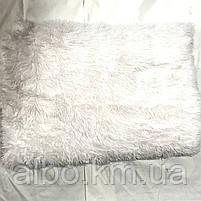 Покрывало плед травка меховое ALBO 160х200 cm Белое (P-b11-2), фото 8